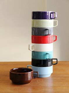 HASAMI Porcelain    || KITCHEN : Like the clean, modern lines, but also fun colors and aesthetic (stackable!) of these COFFEE/TEA CUPS.