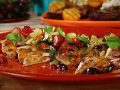 Grilled chicken salad with apricot glaze