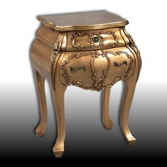 Lucile- Antique Gold French Chest of Drawers - Furniture - Home Decor
