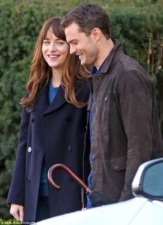 Ready: Dakota Johnson and Jamie Dornan were spotted filming 50 Shades Darker in Vancouver on Monday