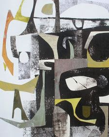 robert roth: abstract vessels   monoprint, collage