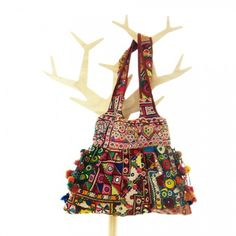 One of a Kind Bohemian Bag Vintage Textile Handmade Boho 00031