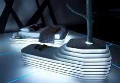 Cool Bedroom Design in TRON Legacy Inspiration for Home Designing Futuristic Interiors