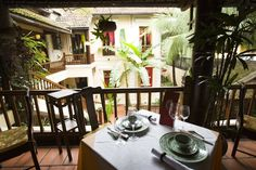 Emperor Restaurant interior, French Quarter, Hanoi, Vietnam