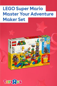 Take on a Goomba, Bob-omb, Koopa Paratrooper and Larry with the LEGO Super Mario Master Your Adventure Maker Set! It comes with everything they need to build their own course, plus more inspiration and build instructions on the LEGO Super Mario app! Use their LEGO Super Mario figure (not included) and save the Mushroom Kingdom!