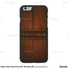 Baltic Pine Wood Carved® Wooden iPhone 6 6S Cases