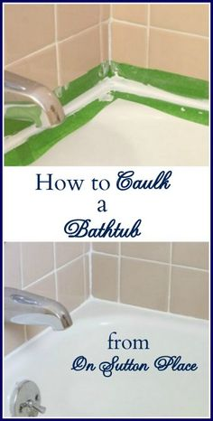 How To Caulk A Bathtub/Repair Grout!! - On Sutton Place