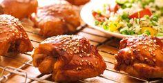 Recept van Zoete, pittige kippendijen