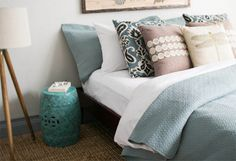 Serenely Hued Bedding