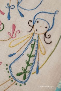 Modern embroidery from Cinderberry Stitches