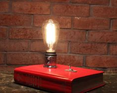 Industrial Desk Lamp Charging Station Cell by VintageIronworks