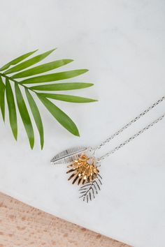 Triple Palm Leaves Pendant www.amandacoleman.co.uk £73
