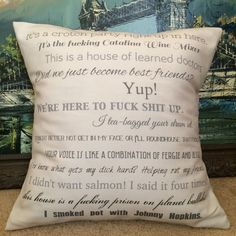 Step Brothers movie quote pillow Have to have this for my bro!!! Stepbrothers is one of our fav movies