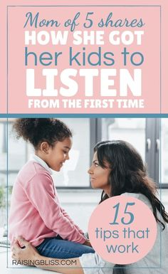 Do you ever feel like you are talking to a wall? Do your kids just not listen to you sometimes when you talk or ask them to do something? Is it because you are not doing something right? Is it because they just don't hear you? What could be the real reason? Read this article, How to Get Kids to Listen - 15 Tips That Work, to get some tips, advise, and ideas. Find out how you can get them to listen. It may have a lot to do with how we speak with them. Includes a free printable. Moral Stories For Kids, Overwhelmed Mom, Child Behavior, Quotes About Motherhood, Happy Mom, Parenting Ideas, Mom Advice, Newborn Care, Survival Guide