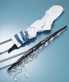 Tube Socks as Wiper Protectors: Come on―when was the last time you wore them, anyway? Instead, slip a pair over your windshield wipers on the eve of a storm so you won't have to deice the blades in the morning.
