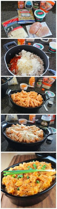 How To Buffalo Chicken Baked Pasta