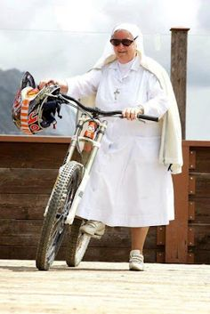 Downhill nun. Are you sure? She got balls. Bicycles Love Girls. http://bicycleslovegirls.tumblr.com
