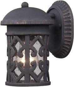 "0-020675>9""""h Tuscany Coast 1-Light Outdoor Wall Lantern Weathered Charcoal"