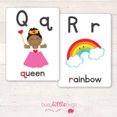 """Our """"Alphabet Flash Cards"""" are a great learning tool for your children to learn the letters of the alphabet."""