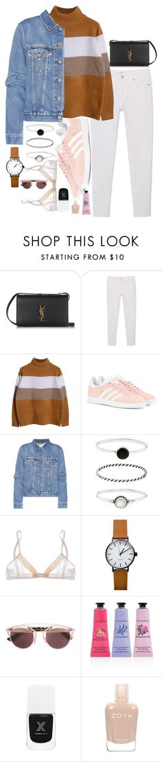 """""""Untitled #504"""" by el-khawla ❤ liked on Polyvore featuring Yves Saint Laurent, MANGO, adidas Originals, Acne Studios, Accessorize, Miu Miu, Christian Dior, Crabtree & Evelyn and Zoya"""