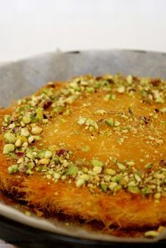 Knafeh bil jibne- Middle eastern dessert to die for-lots of recipes at this blog