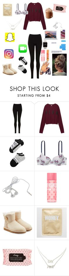 """""""dont wanna sleep"""" by nikinewman on Polyvore featuring Topshop, Victoria's Secret, Victoria's Secret PINK, Oovoo, UGG Australia, Aerie and Charlotte Russe"""