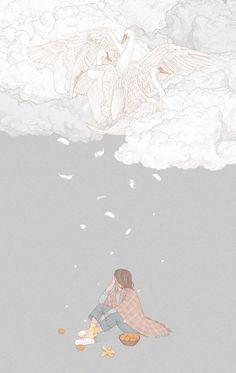 Soft Wallpaper, Aesthetic Pastel Wallpaper, Aesthetic Wallpapers, Cute Couple Art, Pop Art Illustration, Dibujos Cute, Cute Cartoon Wallpapers, Anime Art Girl, Aesthetic Art