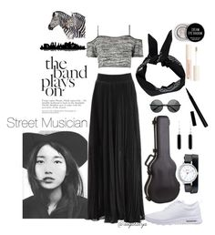 """Street Musician"" by dogatalya ❤ liked on Polyvore featuring Boohoo, NIKE, Geneva, Jewel Exclusive, Forever 21, H&M and Universal Lighting and Decor"