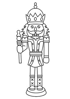 """The Nutcracker is the main character from the popular story """"The Nutcracker and the Mouse King"""". Here's 10 amazing free printable nutcracker coloring pages. Nutcracker Image, Nutcracker Crafts, Nutcracker Christmas, Christmas Colors, Christmas Art, Christmas Stockings, Christmas Templates, Christmas Printables, Coloring Book Pages"""