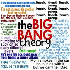 Sheldon and Big Bang Theory