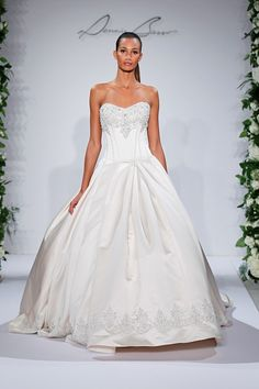 Dennis Basso Sweetheart Ball Gown in Satin | KleinfeldBridal.com