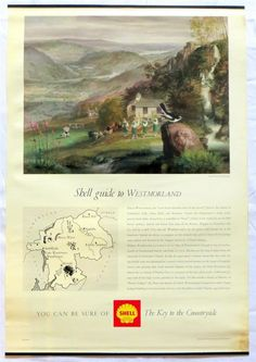 Shell County Guide Westmoreland Claud Harrison Colour Lithograph Poster 1964 - Ebay £4.95