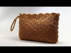 Crochet Clutch Bags, Crochet Wallet, Crochet Tote, Crochet Handbags, Crochet Purses, Crochet Star Patterns, Crochet Bag Tutorials, Crochet Videos, Image Youtube