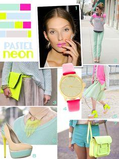 Pastel neon