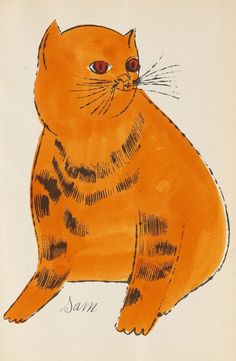 Andy Warhol, 25 Cats name(d) Sam and one Blue Pussy, 1954. Lithograph. From Warhol's first artist book.