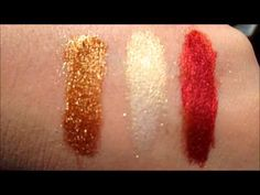 Hustle, Push, Ruthless #pigments by SYN Cosmetics #swatches #liveswatches #makeup #goldmakeup #mua #ilovemakeup #beauty