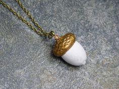 Halskette Beton *Eichel & Bronze* von Structallic