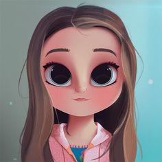 Cartoon, Portrait, Digital Art, Digital Drawing, Digital Painting, Character Design, Drawing, Big Eyes, Cute, Illustration, Art, Girl, Kamri Noel