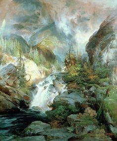 Children Of The Mountain Painting  - Thomas Moran