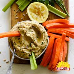 Sunny Sunbutter Hummus is an easy savory hummus made super creamy with SunButter in place of tahini. Lunch Recipes, Healthy Recipes, Beet Hummus, Hummus Recipe, Roasted Red Peppers, Afternoon Snacks, Tahini, Healthy Fats, Food Processor Recipes