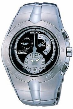 Seiko Men's Kinetic Chronograph Watch SNL025P1