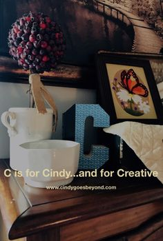 C is for Cindy…and for Creative – Cindy Goes Beyond How to Create Vignettes How to Use Vintage Suitcases How to Decorate a Vintage Suitcase How to Use Old Suitcases Ideas for Old Suitcases Vintage Suitcases, Crewel Embroidery, Vignettes, Rooster, My Favorite Things, Create, Inspiration, Ideas, Decor