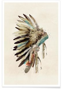 Headdress - Brian Buckley - Premium poster