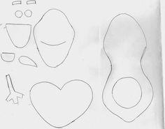 šablona k Olafovi - z moosgumi Olaf, Cookie Cutters, Paper Envelopes, Manualidades