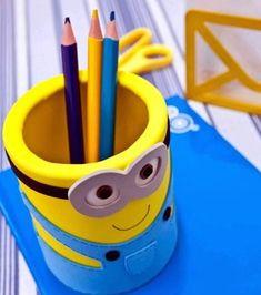 Espaço Infantil – Como Fazer Porta-Lápis dos Minions