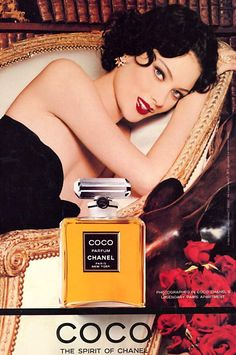 1996 - Coco - the spirit of Chanel ad - 9 x 11 inche of a colored ad. Coco parfum chanel - Paris, New York. Photographed in Coco Chanels legendary Paris apartment. Perfume Good Girl, Perfume Hermes, Perfume Lady Million, Best Perfume, Perfume Vintage, Vintage Chanel, Vintage Ads, Fragrance, Makeup
