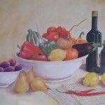 Fruit & Veg Still Life 12 x 16 - Len Murrell Fruit And Veg, Still Life, Pictures, Painting, Photos, Fruits And Veggies, Painting Art, Paintings, Painted Canvas