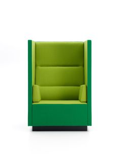 A play on the old stye wing chair. This chair offers privacy and is almost a complete phone booth with a seat. Float high chair : Mårten Claesson, Eero Koivisto and Ola Rune for Offecct www.ofw.com/pinterest