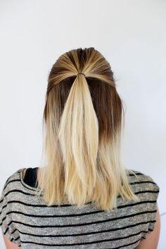 half-up hair
