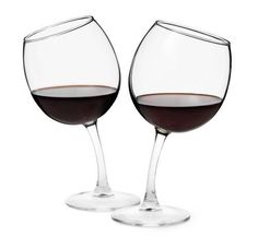 Tipsy wine glasses. I think i would keep spilling it though